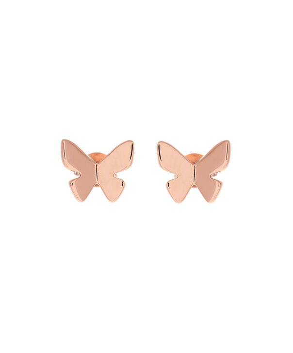 OLIVIA BURTON LONDON  Social Butterfly Stud Earrings Rose Gold OBJ16SBE02 – Social Butterfly Stud Earrings - Front view