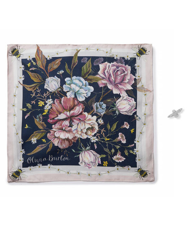 OLIVIA BURTON LONDON Pocket Square and Bee Pin Gift SetOBJGSET05 – Pocket Square and Bee Pin Gift Set - Front view