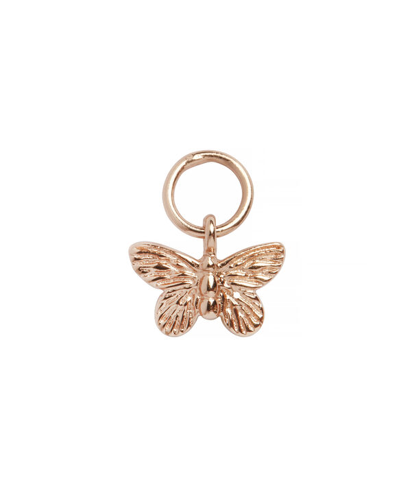 OLIVIA BURTON LONDON  Butterfly Huggie Charm Rose Gold OBJ16MBE05 – Charms - Front view