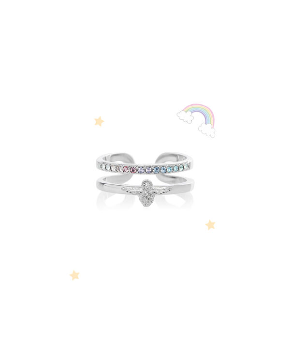 OLIVIA BURTON LONDON Rainbow Bee Ring SilverOBJAMR28 – Ring in Silver - Front view