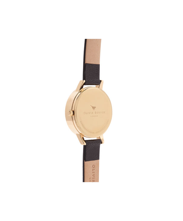 OLIVIA BURTON LONDON  3D Daisy Black & Gold Watch OB15EG38 – Midi Dial Round in White and Black - Back view