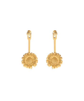 OLIVIA BURTON LONDON  Daisy Jacket Earrings Gold OBJ16DAE19 – 3D Daisy Jacket Earrings - Front view