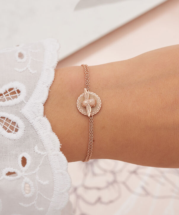 OLIVIA BURTON LONDON 3D Bee & Coin Chain Bracelet Rose Gold OBJ16AMB23 – 3D Bee Chain Bracelet - Other view