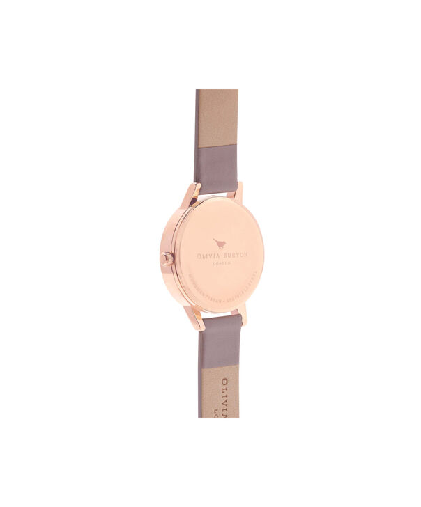 OLIVIA BURTON LONDON  Wonderland Silver & Rose Gold Watch OB15WD51 – Midi Dial Round in Silver, Rose Gold and Grey Lilac - Back view