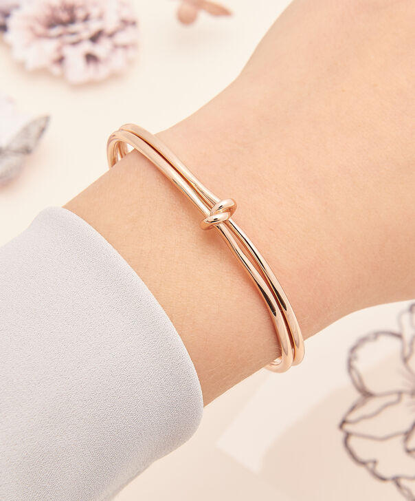 OLIVIA BURTON LONDON  Forget Me Knot Cuff Bracelet Rose Gold OBJ16KDB05 – Forget Me Knot Cuff - Other view