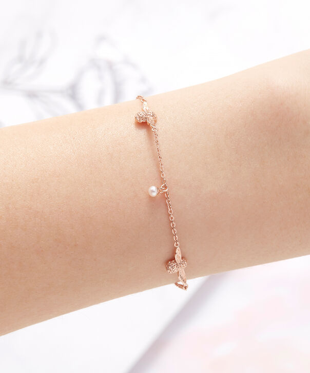 OLIVIA BURTON LONDON  Pearl Bee Chain Bracelet Rose Gold OBJ16AMB41 – Pearl Bee Chain Bracelet - Other view