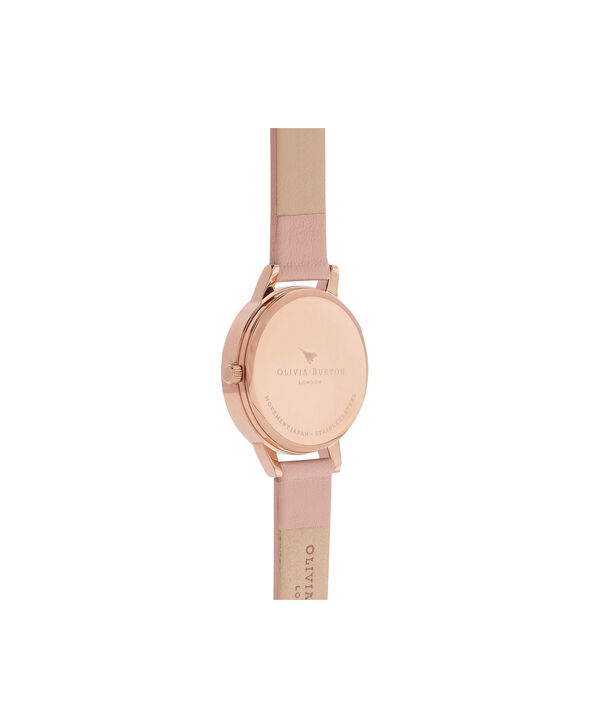 OLIVIA BURTON LONDON  Midi Dial Pink And Rose Gold Watch OB16MD77 – Midi Dial Round in Rose Gold and Pink - Back view