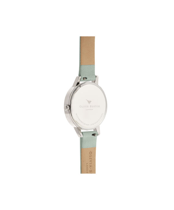 OLIVIA BURTON LONDON  3D Bee Sage & Silver OB16AM149 – Midi Dial Round in Silver - Back view