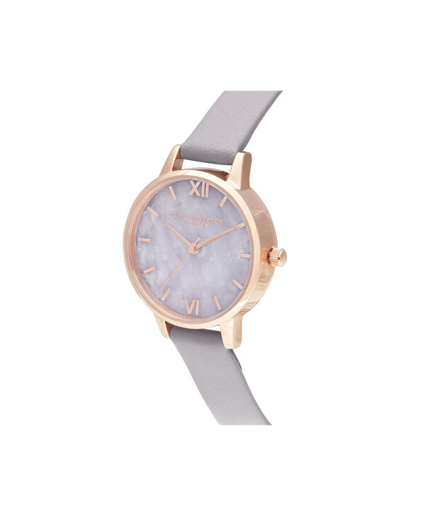 OLIVIA BURTON LONDON Midi Amethyst Lilac & Rose GoldOB16SP17 – Midi Dial in Grey Lilac and Rose Gold - Side view