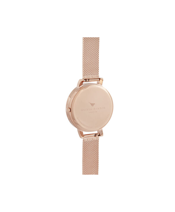OLIVIA BURTON LONDON Big Dial 3D Bee Lapis Lazuli & Rose Gold Boucle MeshOB16SP11 – Big Dial in Rose Gold and Rose Gold - Back view