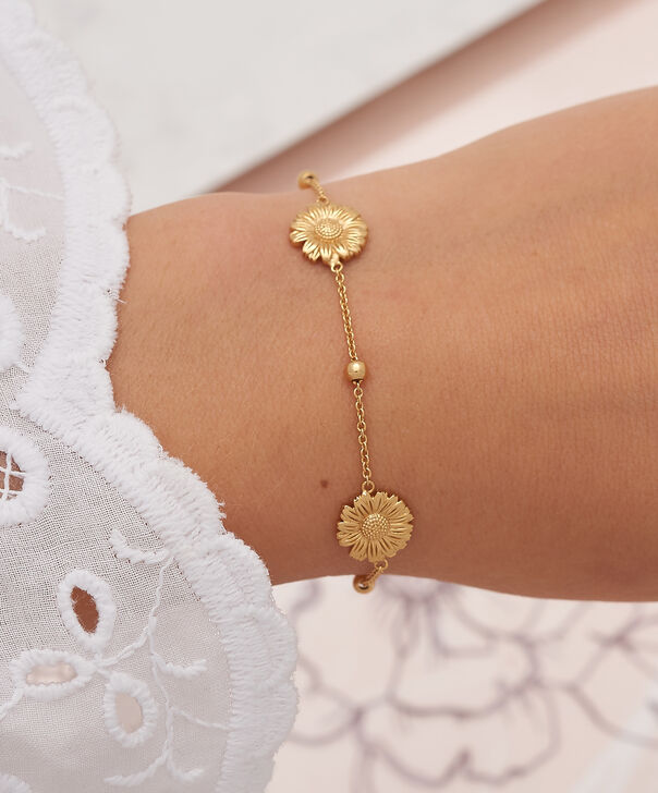 OLIVIA BURTON LONDON  Daisy Chain Bracelet Gold OBJ16DAB06 – 3D Daisy Chain Bracelet - Other view