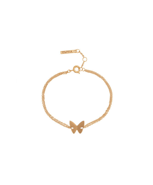 OLIVIA BURTON LONDON Social Butterfly Chain Bracelet Gold OBJ16SBB01 – Social Butterfly Chain Bracelet - Front view