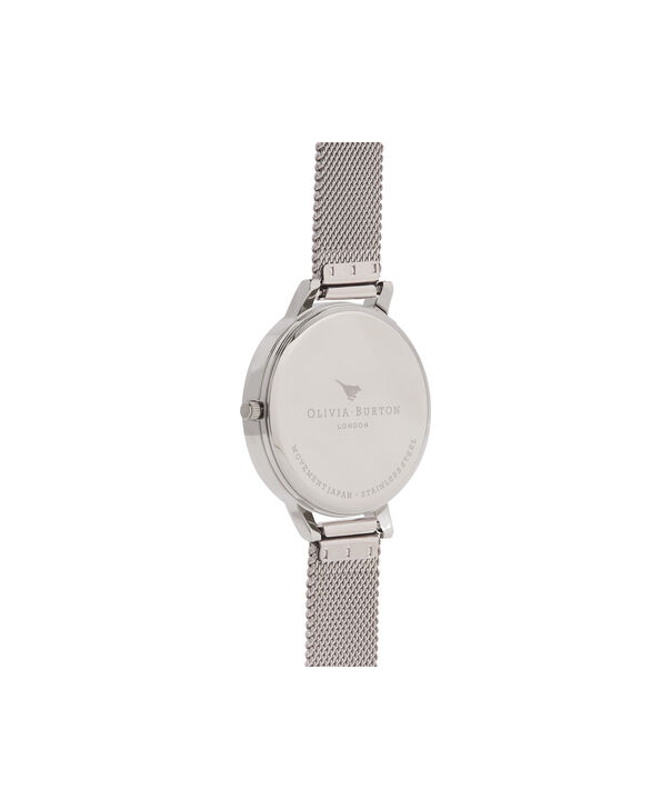 OLIVIA BURTON LONDON Peony Parlour Sunray Big Dial WatchOB16PL60 – Big Dial in silver and Silver & Rose Gold - Back view