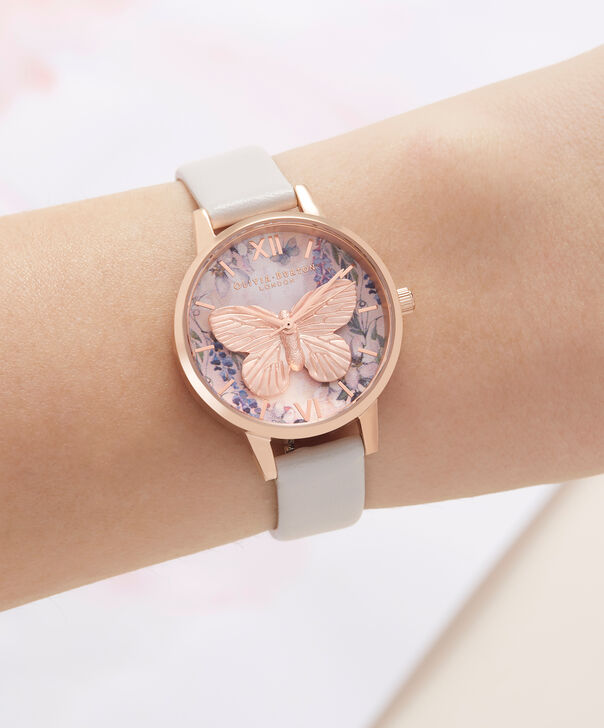 OLIVIA BURTON LONDON Glasshouse Vegan Blush & Rose GoldOB16GH07 – Midi Dial Round in Rose Gold and Pink - Other view