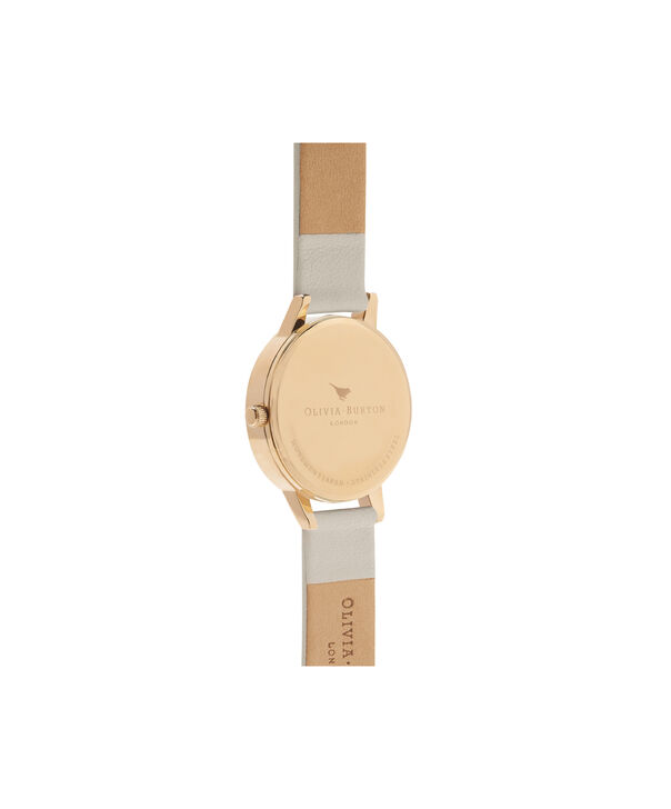OLIVIA BURTON LONDON  Vegan Friendly Woodland Bunny Vegan Nude & Gold Watch OB16WL65 – Midi Dial Round in White and Nude - Back view