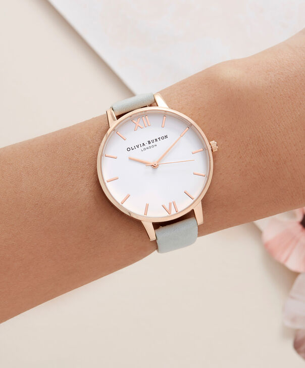 OLIVIA BURTON LONDON  White Dial Sage & Rose Gold OB16BDW36 – Big Dial Round in Rose Gold - Other view