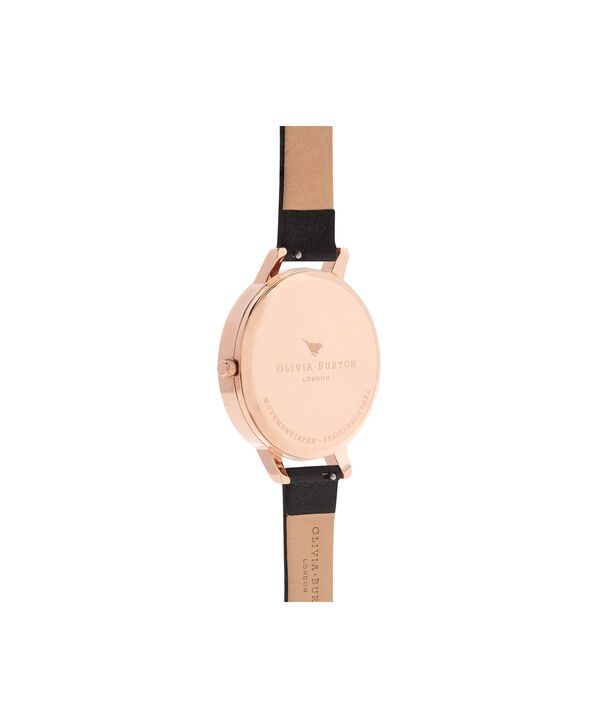 OLIVIA BURTON LONDON  Bejewelled Rose Gold Watch OB16BF04 – Big Dial Round Rose Gold - Back view