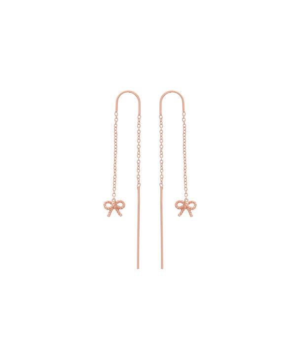 OLIVIA BURTON LONDON  Vintage Bow Threader Earrings Rose Gold OBJ16VBE13 – Vintage Bow Threader Earrings - Front view