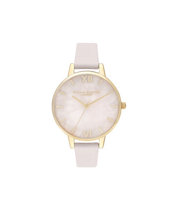OLIVIA BURTON LONDON Demi Rose Quartz Blossom & GoldOB16SP20 – Demi Dial in Blossom and Gold - Front view