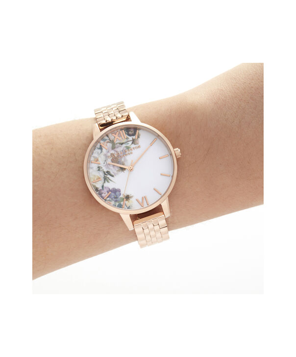 OLIVIA BURTON LONDON Enchanted Garden Demi Rose Gold BraceletOB16EG135 – Demi Dial In Rose Gold And Rose Gold - Other view