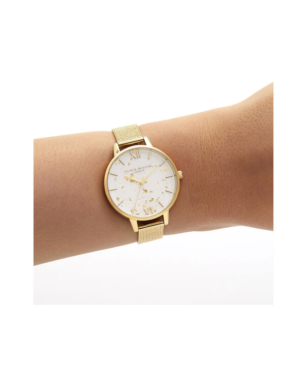 OLIVIA BURTON LONDON Celestial Demi Dial Watch with Boucle MeshOB16GD15 – Demi Dial in gold and Gold - Other view