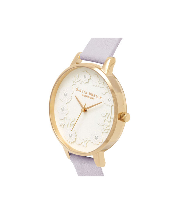OLIVIA BURTON LONDON  Artisan Dial Parma Violet & Gold OB16AR02 – Big Dial Round in Gold and Parma Violet - Side view