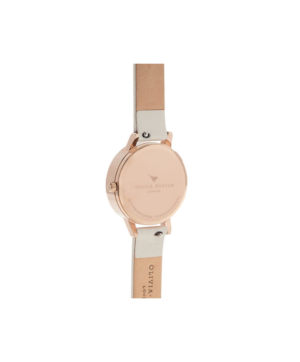 OLIVIA BURTON LONDON  Busy Bees Nude & Rose Gold Watch OB16CH13 – Midi Dial Round in White and Nude - Back view