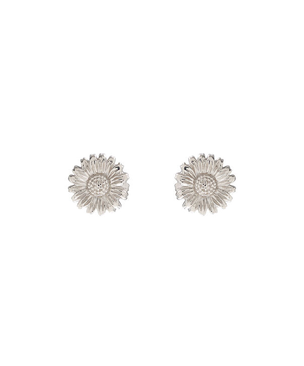 OLIVIA BURTON LONDON 3D Daisy Stud Silver OBJ16DAE15 – 3D Daisy Stud Earrings - Front view