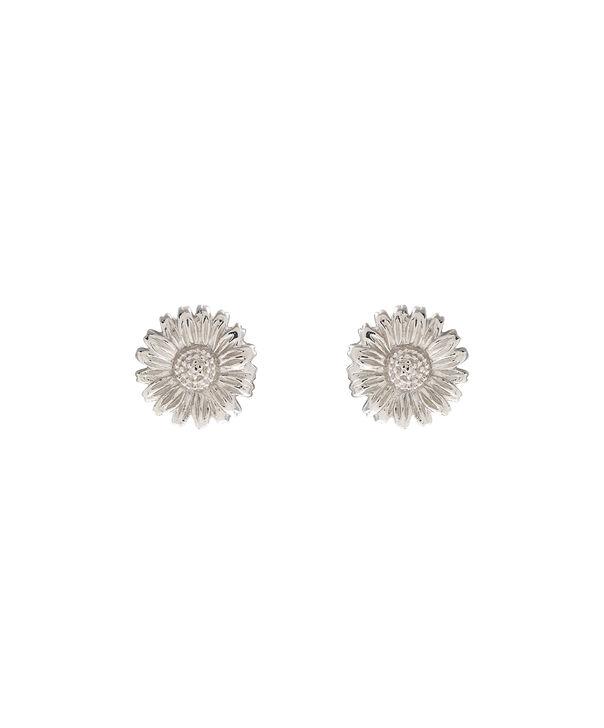 OLIVIA BURTON LONDON 3D Daisy Stud Silver OBJ16DAE15 – 3D Daisy Stud Earrings - Front view