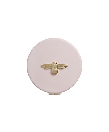 OLIVIA BURTON LONDON 3D Bee Pink & Gold Compact MirrorOB16ACS02 – Mirror in Pink and Gold - Front view