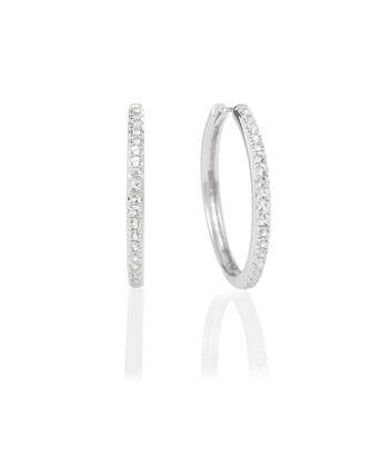 OLIVIA BURTON LONDON Hoop Earrings Cubic Zirconia & SilverOBJ16COE11 – 0 - Front view