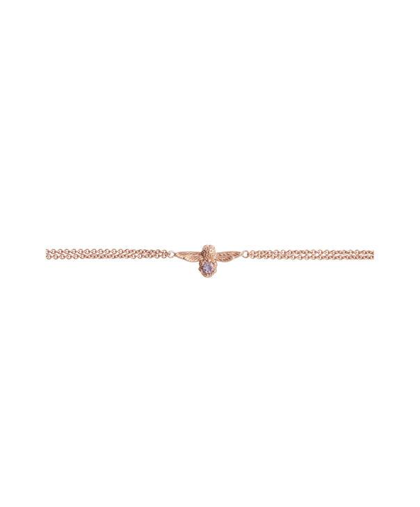 OLIVIA BURTON LONDON Bejewelled Bee Bracelet Rose Gold & AmethystOBJAMB75 – Bracelet in Rose Gold - Side view