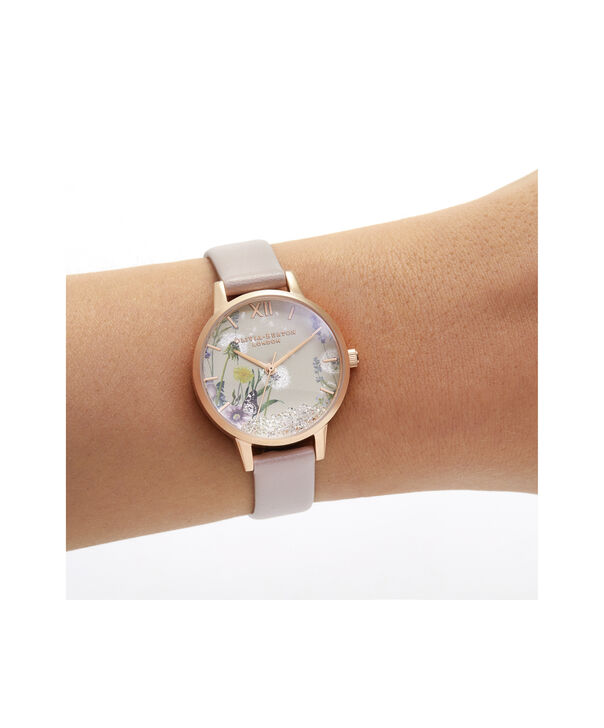 OLIVIA BURTON LONDON Wishing Watch Midi Vegan Rose Sand & Rose GoldOB16SG04 – Midi Dial in Pink and Rose Gold - Other view