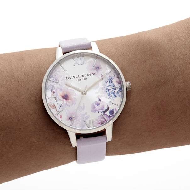 OLIVIA BURTON LONDON Sunlight Florals Demi Parma Violet & SilverOB16EG137 – Sunlight Florals Demi Parma Violet & Silver - Other view