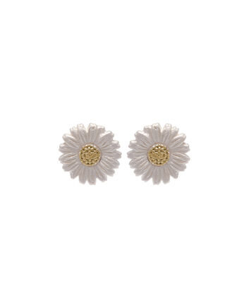 OLIVIA BURTON LONDON  Daisy Stud Earrings Gold OBJ16DAE01 – 3D Daisy Stud Earrings - Front view