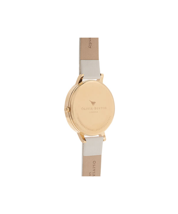 OLIVIA BURTON LONDON  Vegan Friendly Nude & Gold Watch OB16BDV03 – Big Dial Round in Gold and Nude - Back view