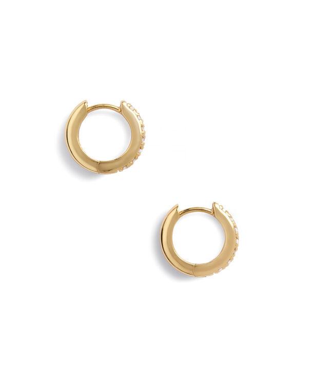OLIVIA BURTON LONDON Huggie Hoop Earrings with White TopazOBJ16COE21 – Huggie Hoop Earrings - Side view