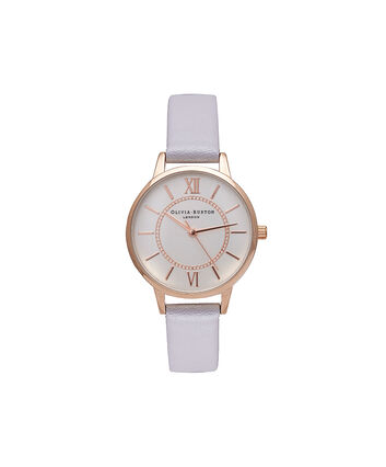 OLIVIA BURTON LONDON WonderlandOB15WD51 – Midi Dial Round in Silver, Rose Gold and Grey Lilac - Front view