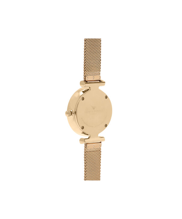 OLIVIA BURTON LONDON  Queen Bee Gold Mesh Watch OB16AM138 – Midi Dial Round in White and Gold - Back view