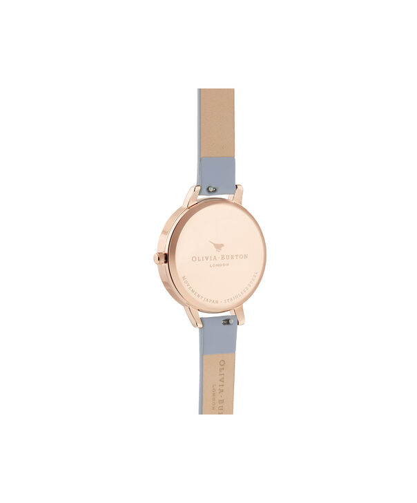 OLIVIA BURTON LONDON Rainbow Bee Demi Chalk Blue & Rose GoldOB16RB12 – Demi Dial In Blue And Rose Gold - Back view