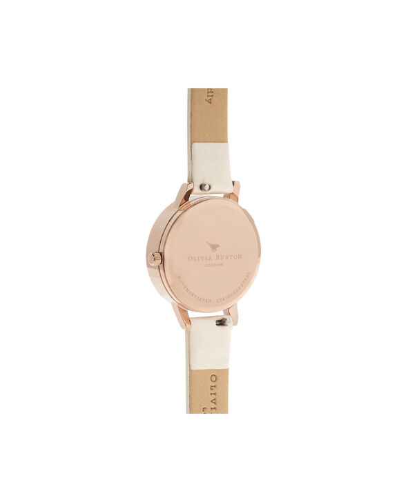 OLIVIA BURTON LONDON  3D Daisy Vegan Nude & Rose Gold OB16FS101 – Midi Dial Round in Gold - Back view