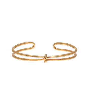 OLIVIA BURTON LONDON  Forget Me Knot Cuff Bracelet Gold OBJ16KDB04 – Forget Me Knot Cuff - Front view