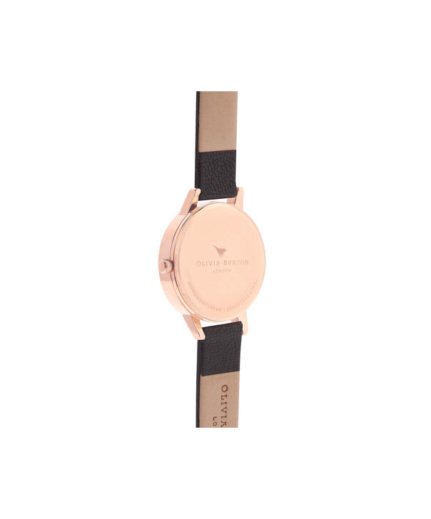 OLIVIA BURTON LONDON  Wonderland Black, Rose Gold & Silver Mix Watch OB15WD59 – Midi Dial Round in Silver and Black - Back view
