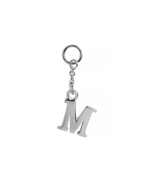 OLIVIA BURTON LONDON  M Alphabet Huggie Charm Silver OBJ16HCSM – Charms - Front view