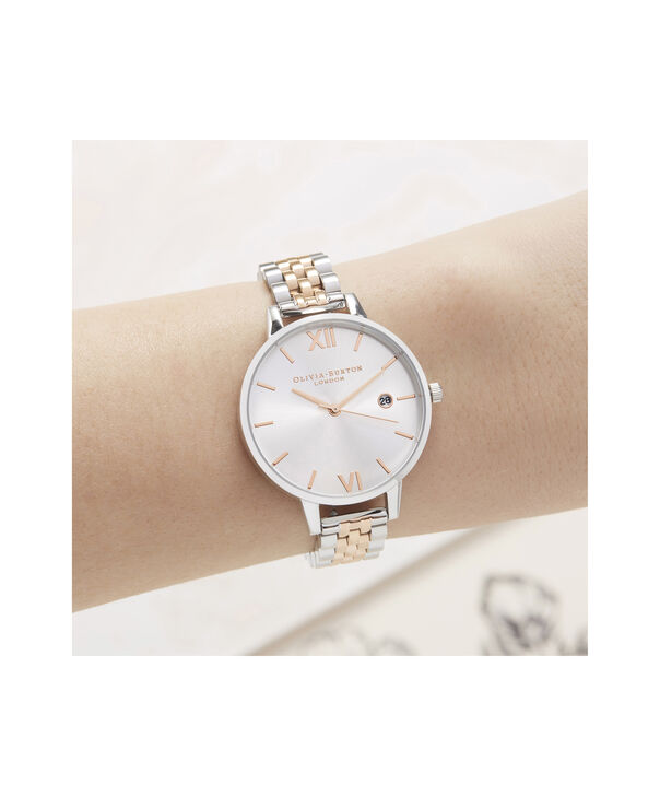 OLIVIA BURTON LONDON Sunray Demi Dial WatchOB16DE06 – rose gold and Silver & Rose Gold - Other view