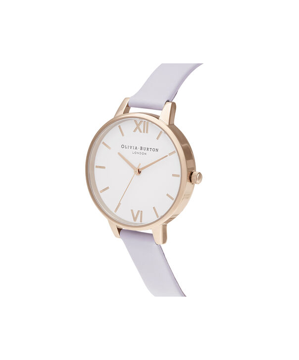 OLIVIA BURTON LONDON Demi White Dial Parma Violet & Pale Rose GoldOB16DE09 – Demi Dial In Parma Violet And Rose Gold - Side view