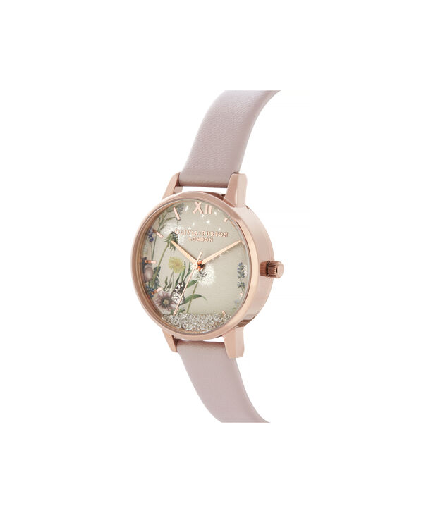 OLIVIA BURTON LONDON Wishing Watch Midi Vegan Rose Sand & Rose GoldOB16SG04 – Midi Dial in Pink and Rose Gold - Side view