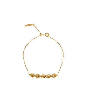 OLIVIA BURTON LONDON Floral CharmOBJ16FSB10 – Floral Charm Chain Bracelet - Front view