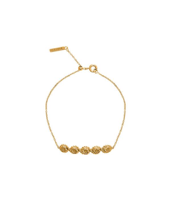 OLIVIA BURTON LONDON Flower Show Rope Chain Bracelet Gold  OBJ16FSB10 – Floral Charm Chain Bracelet - Front view