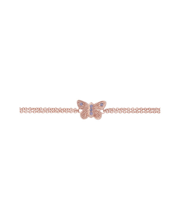 OLIVIA BURTON LONDON Bejewelled Butterfly Chain Bracelet Rose Gold & TanzaniteOBJ16MBB04 – Chain Bracelet in  and Rose Gold - Side view